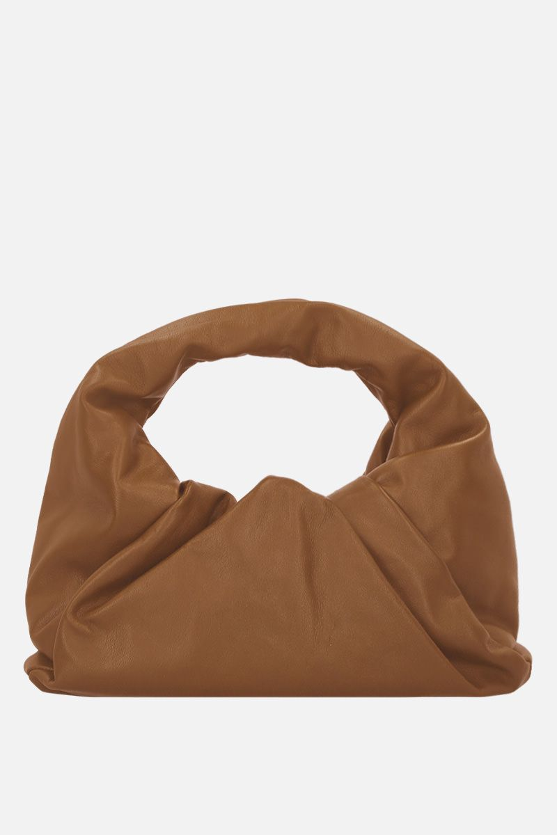 BOTTEGA VENETA: The Shoulder Pouch in smooth leather Color Neutral_1