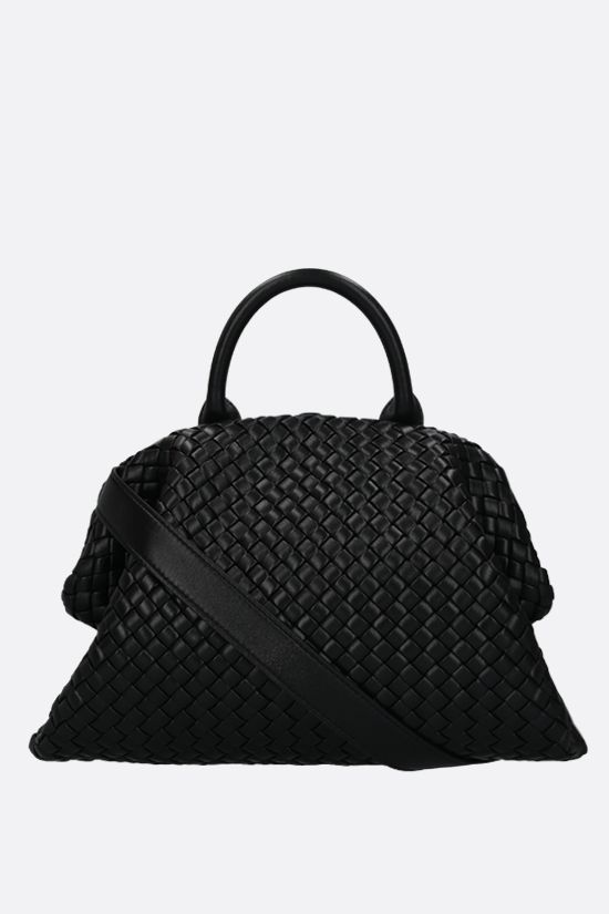 BOTTEGA VENETA: BV Handle handbag in padded Intrecciato nappa Color Black_1
