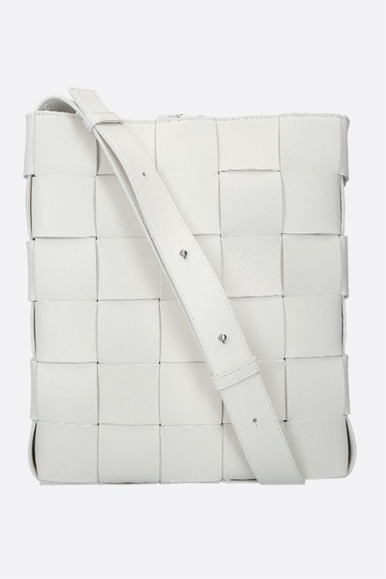 BOTTEGA VENETA: Cassette messenger bag in Intrrecciato nappa Color White_1