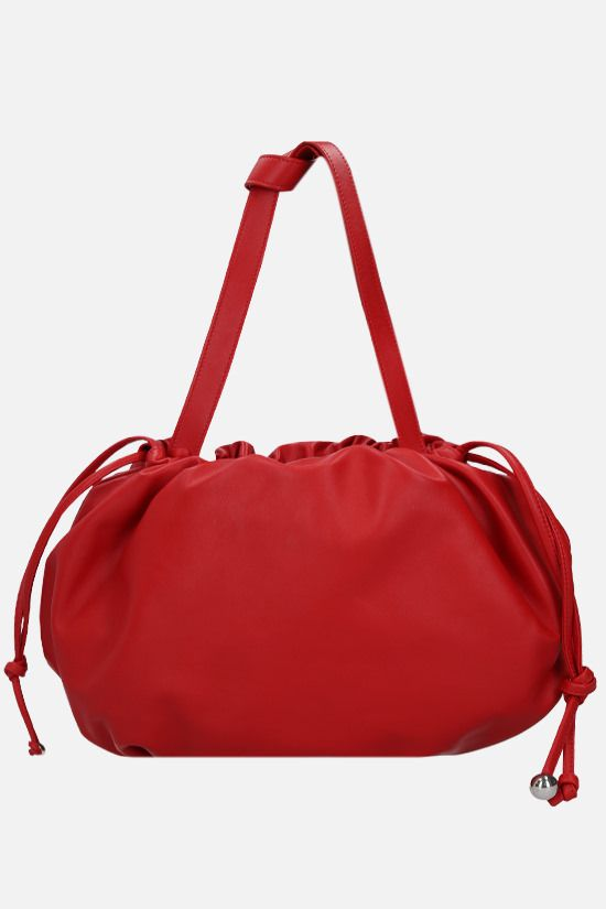 BOTTEGA VENETA: The Bulb medium smooth leather shoulder bag Color Red_1