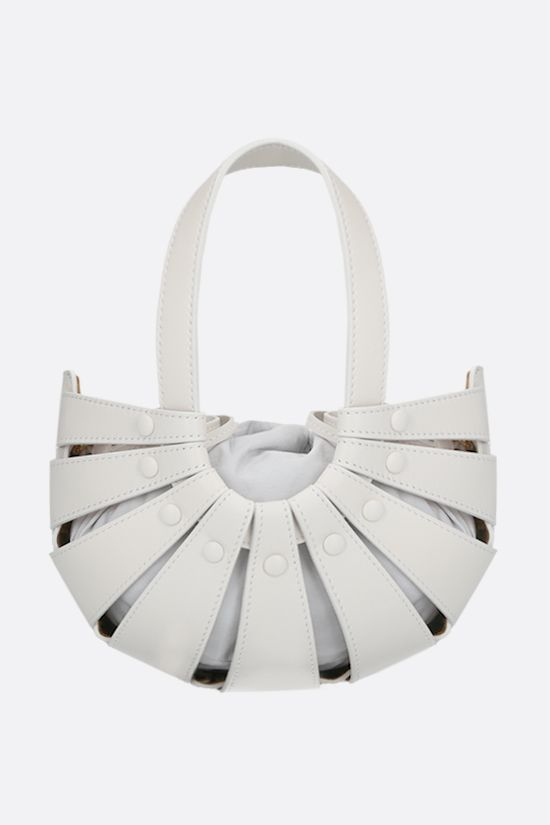 BOTTEGA VENETA: The Shell small smooth leather handbag Color White_1