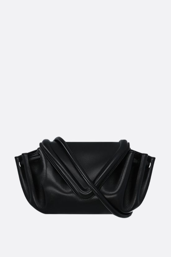 BOTTEGA VENETA: Beak small nappa crossbody bag Color Black_1
