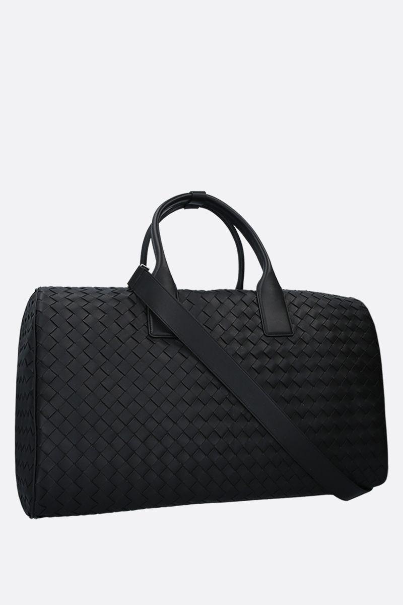 BOTTEGA VENETA: Intrecciato nappa travel bag Color Black_2