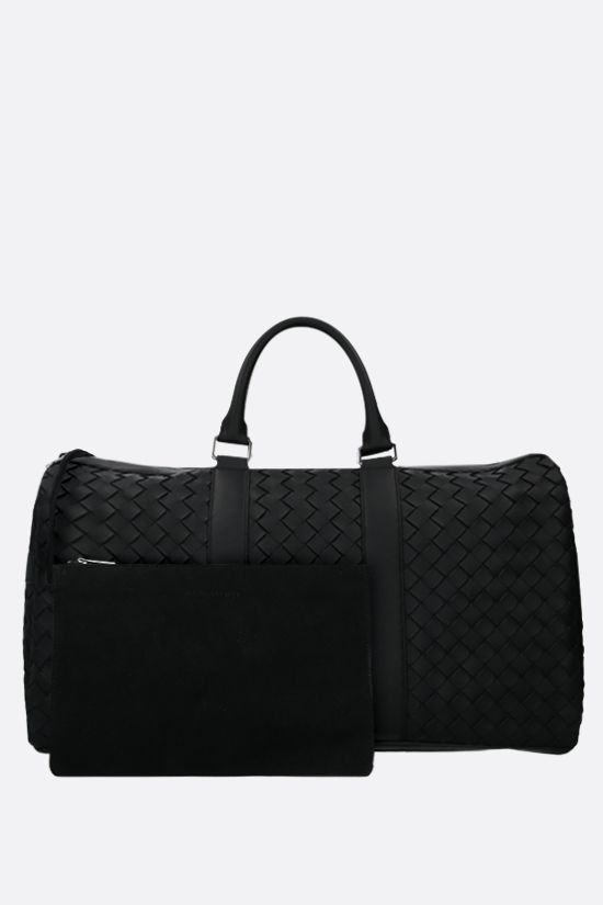 BOTTEGA VENETA: Intrecciato Hidrology weekend bag Color Black_2