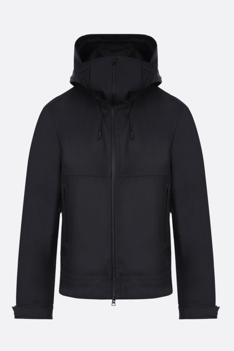 BOTTEGA VENETA: tech nylon full-zip jacket Color Black_1