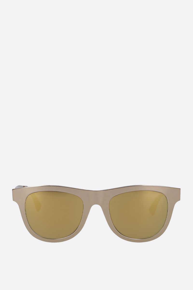 BOTTEGA VENETA: metal sunglasses Color Gold_1