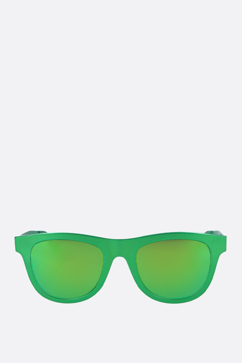 BOTTEGA VENETA: metal sunglasses Color Green_1