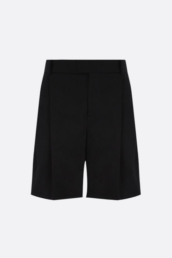 BOTTEGA VENETA: cotton twill darted shorts Color Black_1
