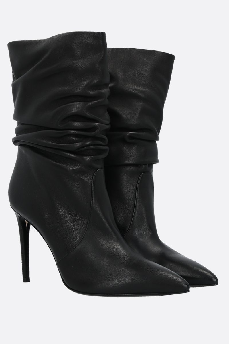 ALEVI' MILANO: Calipso smooth leather booties Color Black_2