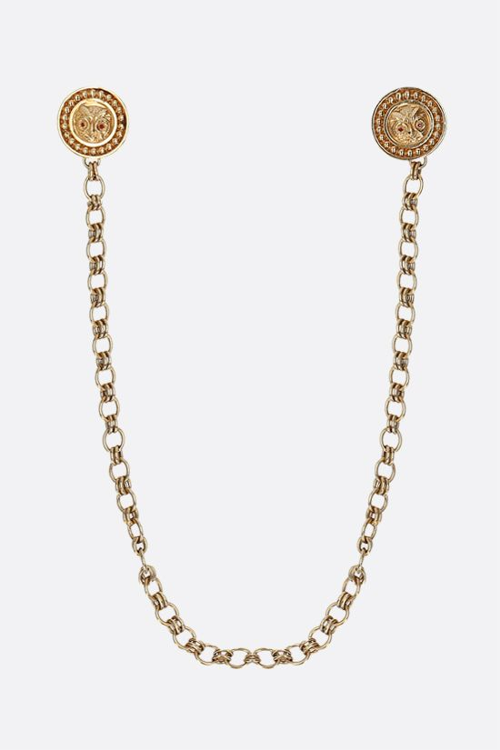 CHANEL VINTAGE: double locket broche with chain Color Gold_1