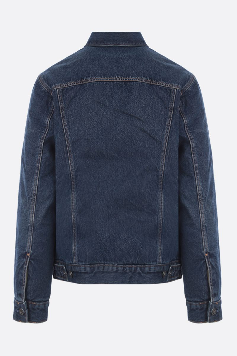 LEVI'S MADE & CRAFTED: faux shearling-lined denim padded jacket Color Blue_2