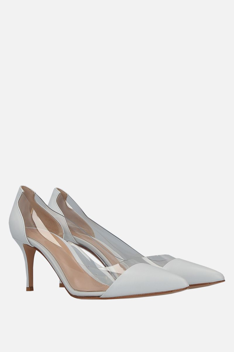 GIANVITO ROSSI: Plexi pumps in smooth leather and PVC_2