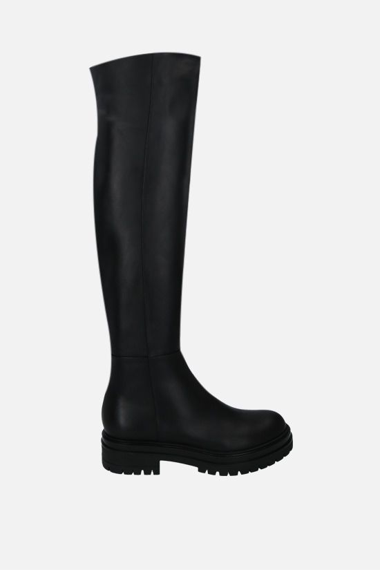 GIANVITO ROSSI: Quinn smooth leather over-the-knee boots Color Black_1