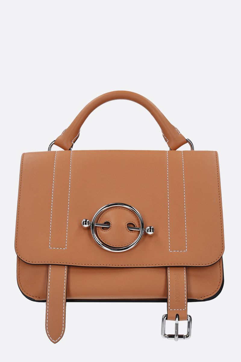 JW ANDERSON: Disc crossbody bag in smooth leather Color Brown_1