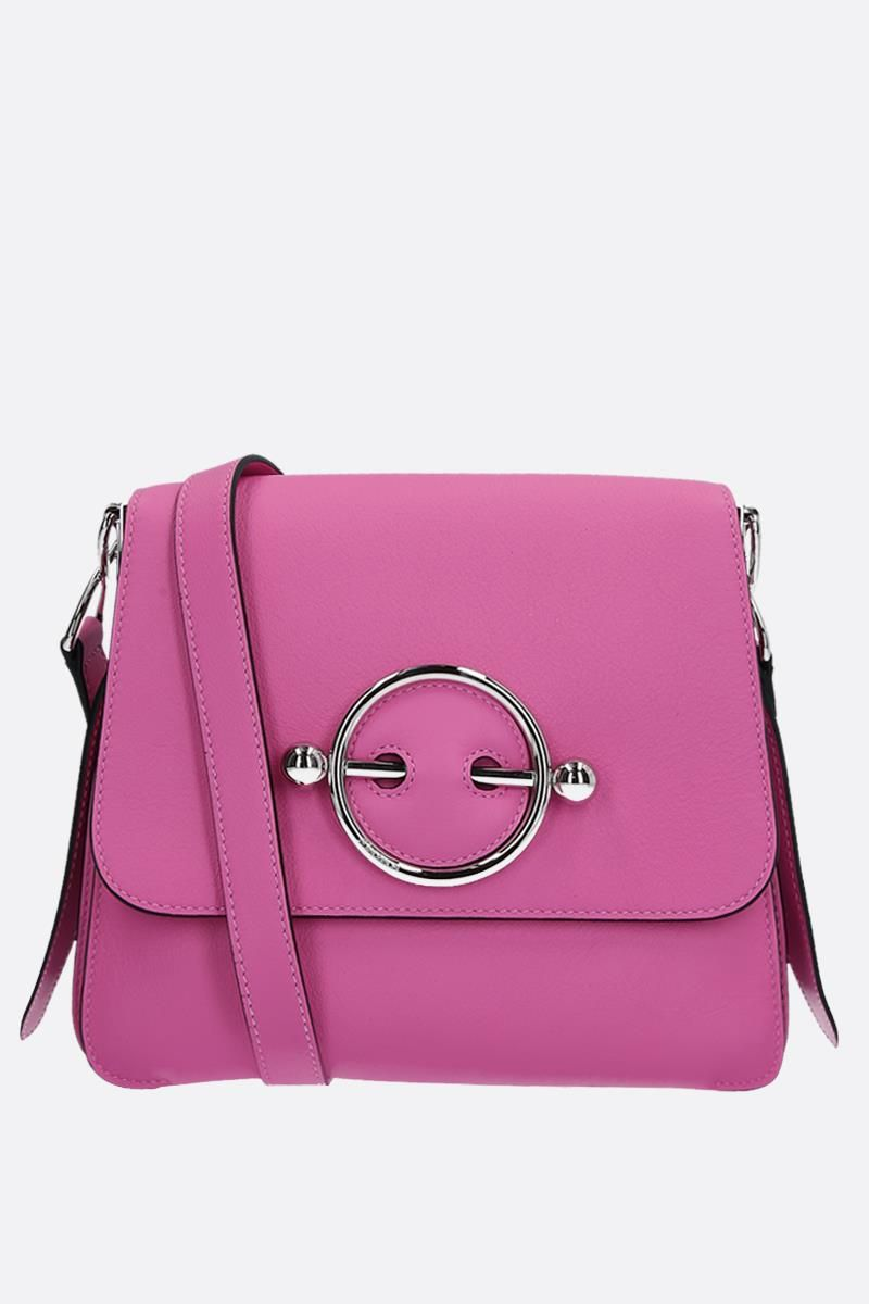 JW ANDERSON: Disc leather bag Color Pink_1