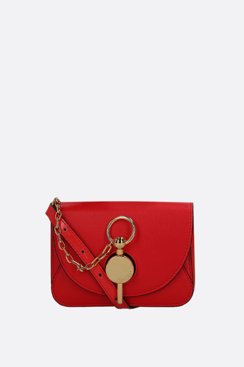 JW ANDERSON: nano Keyts bag in smooth leather Color Red_1