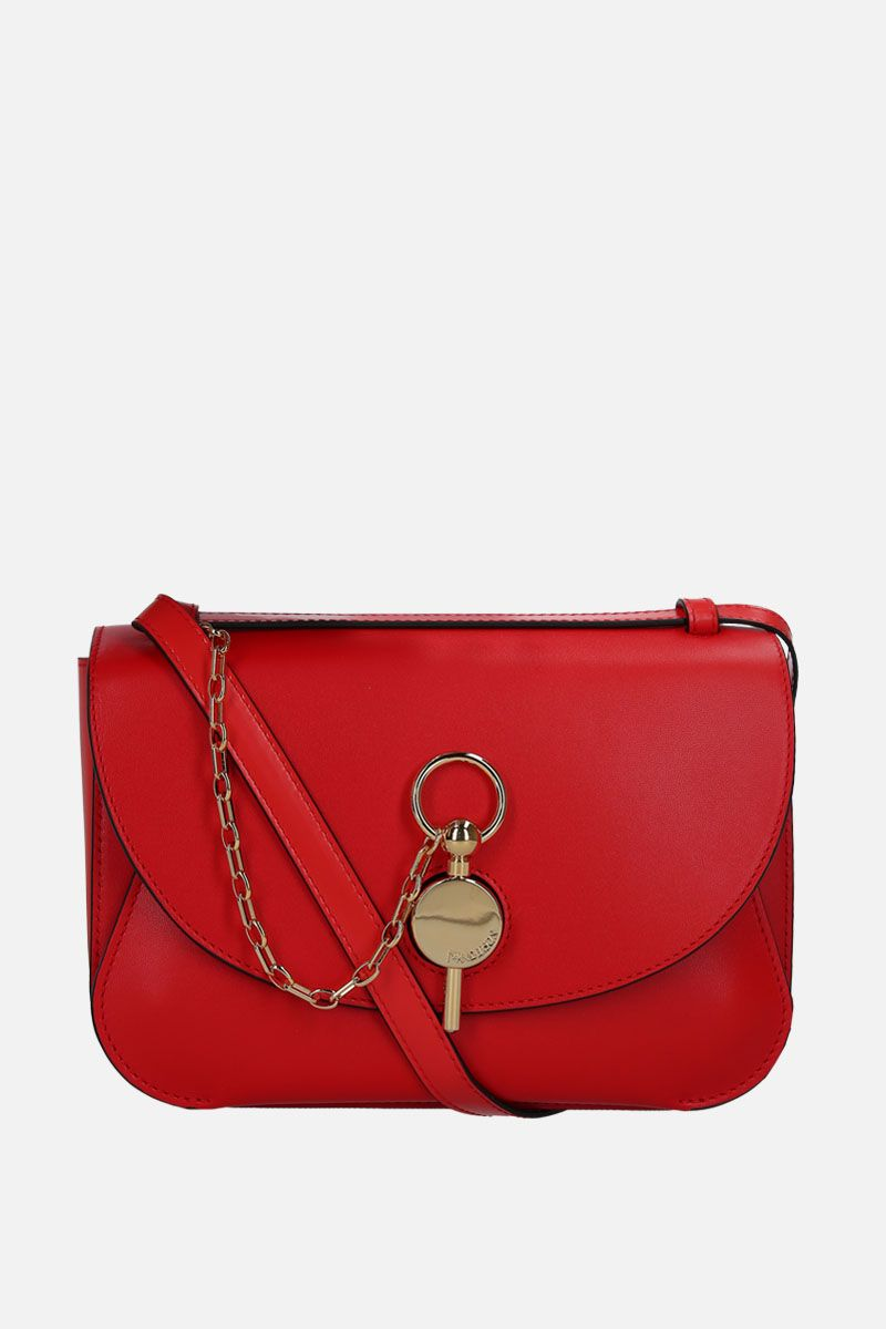 JW ANDERSON: medium Keyts bag in smooth leather Color Red_1