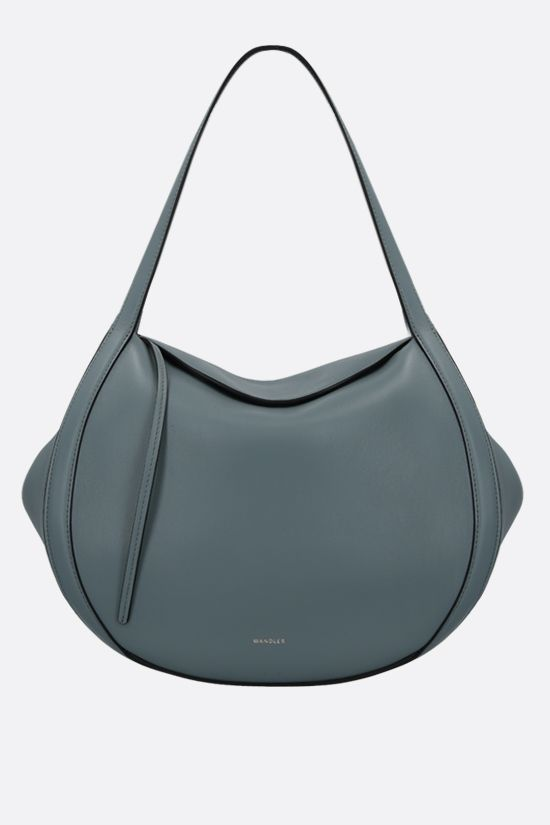 WANDLER: Lin smooth leather handbag Color Blue_1