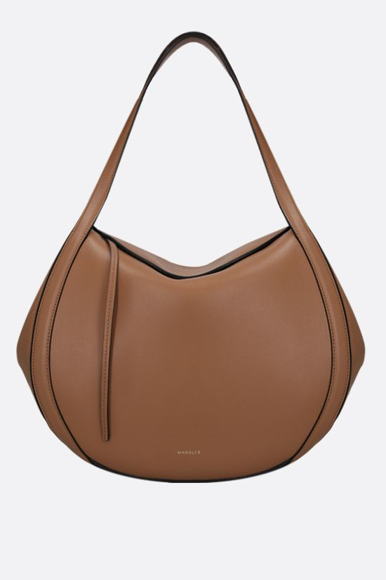 WANDLER: Lin smooth leather handbag Color Brown_1
