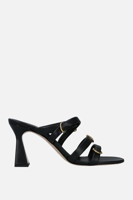 WANDLER: Lara nappa sandals Color Black_1