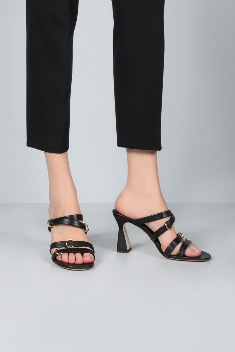 WANDLER: Lara nappa sandals Color Black_2