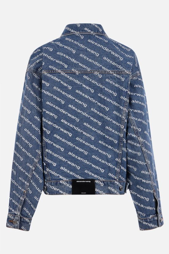 ALEXANDER WANG: Game Logo denim jacket Color Blue_2