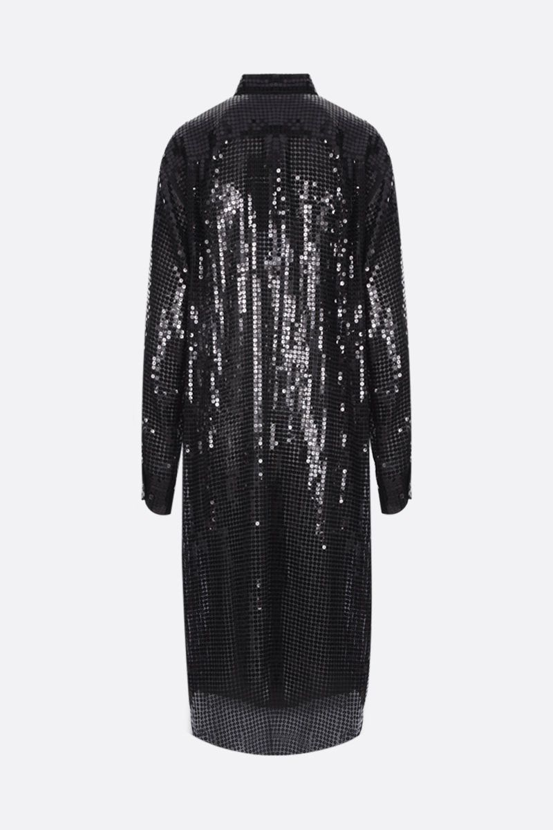 JUNYA WATANABE: abito chemisier in paillettes Colore Black_2