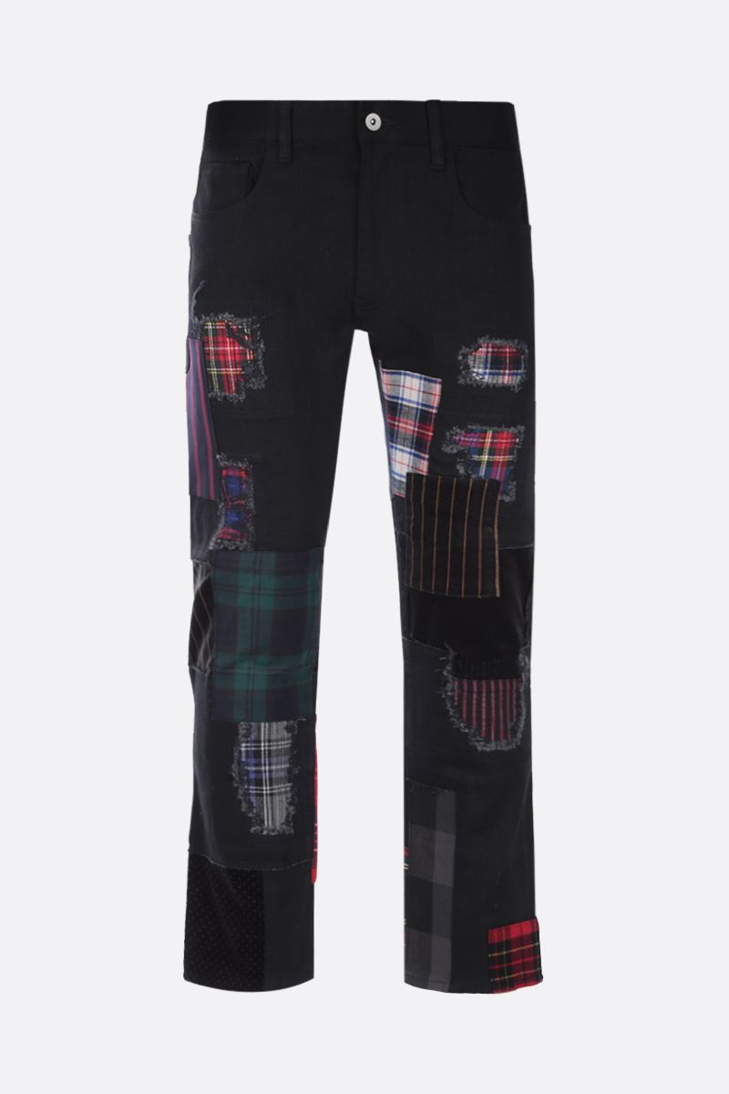 JUNYA WATANABE MAN: jeans con patches Colore Black_1