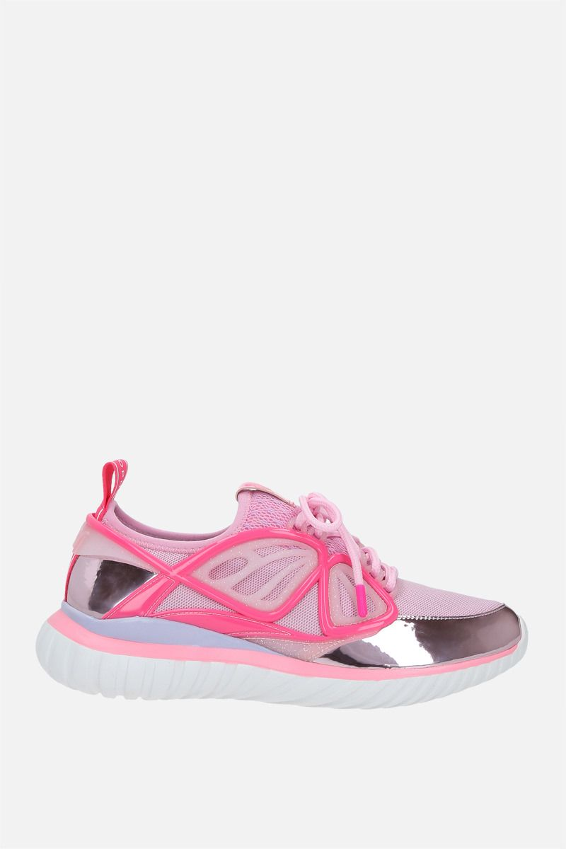 SOPHIA WEBSTER: Fly-By mesh and rubber sneakers Color Pink_1