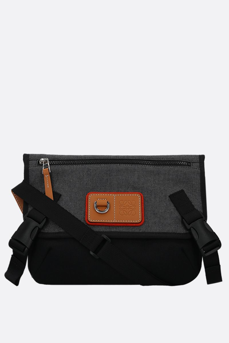 Eye/LOEWE/Nature: Eye/LOEWE/Nature small messenger bag in canvas Color Black_1