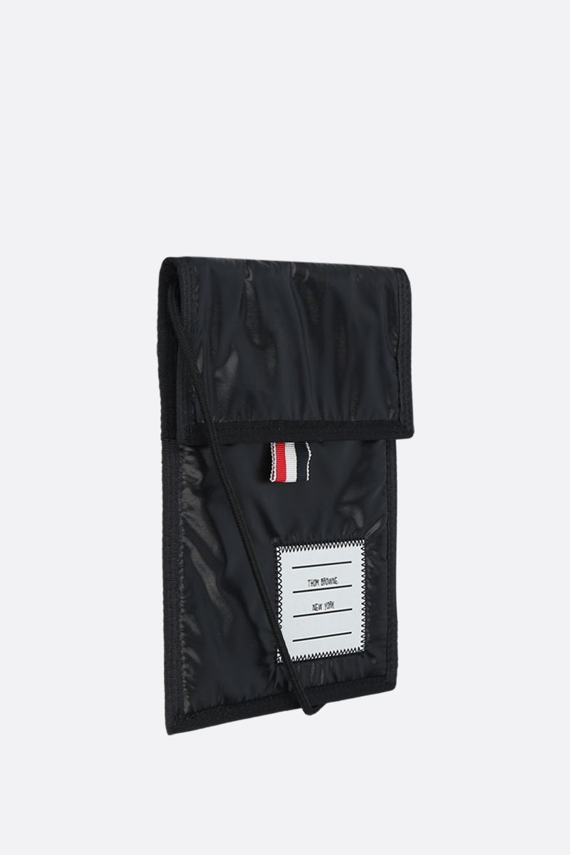 THOM BROWNE: nylon smartphone holder Color Black_2