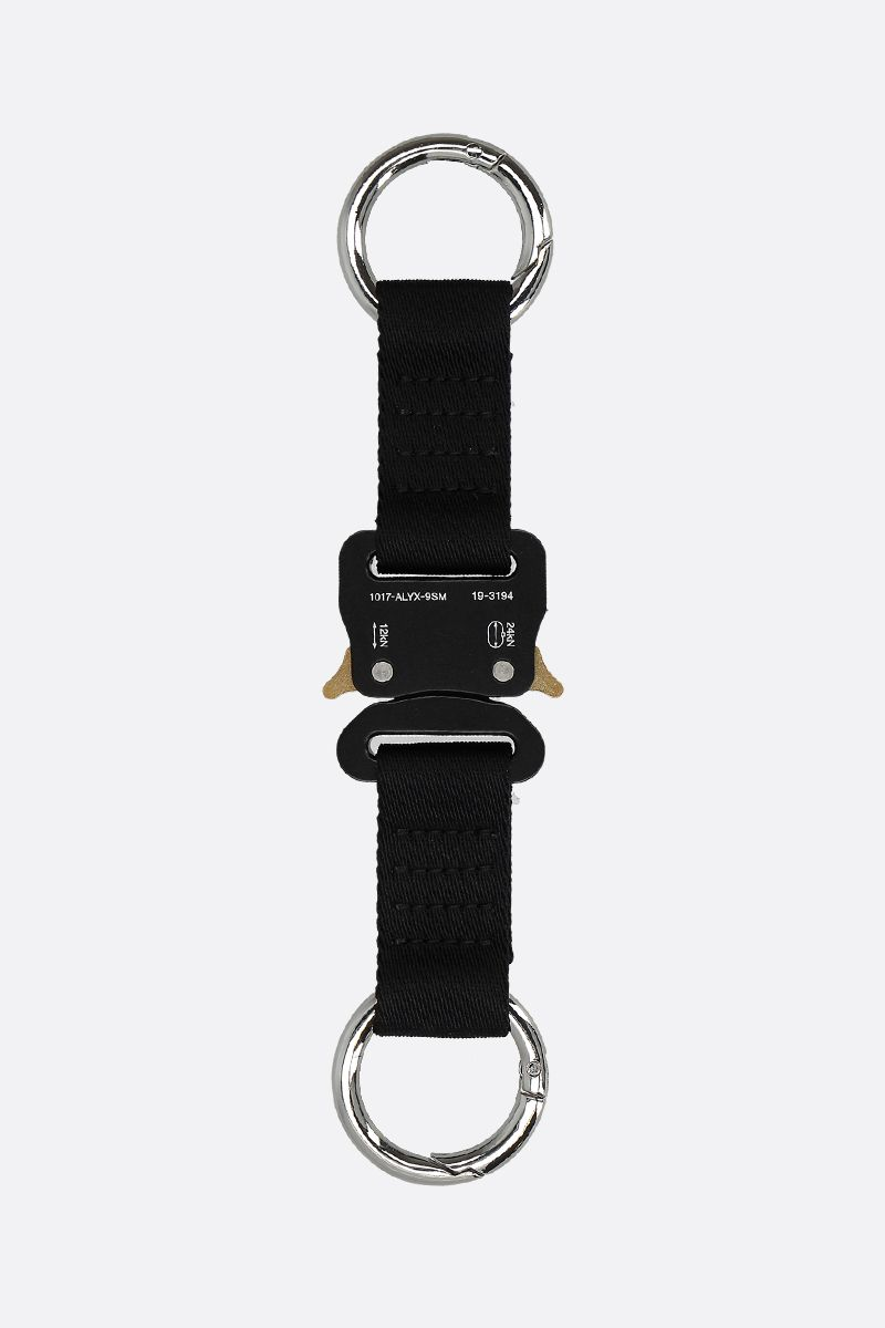 1017 ALYX 9SM: classic nylon keyring with Rollercoaster detail Color Black_1