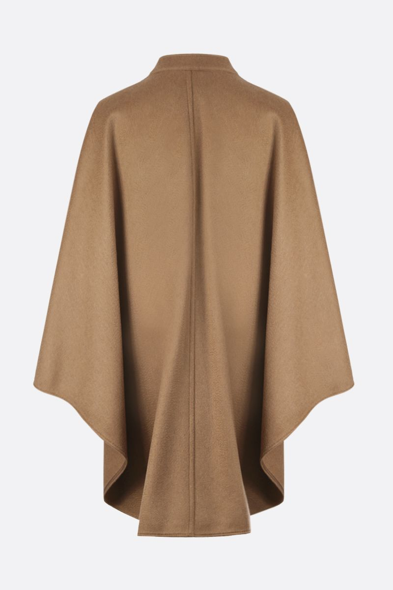 MAX MARA: Addi wool cashmere blend cape Color Neutral_2