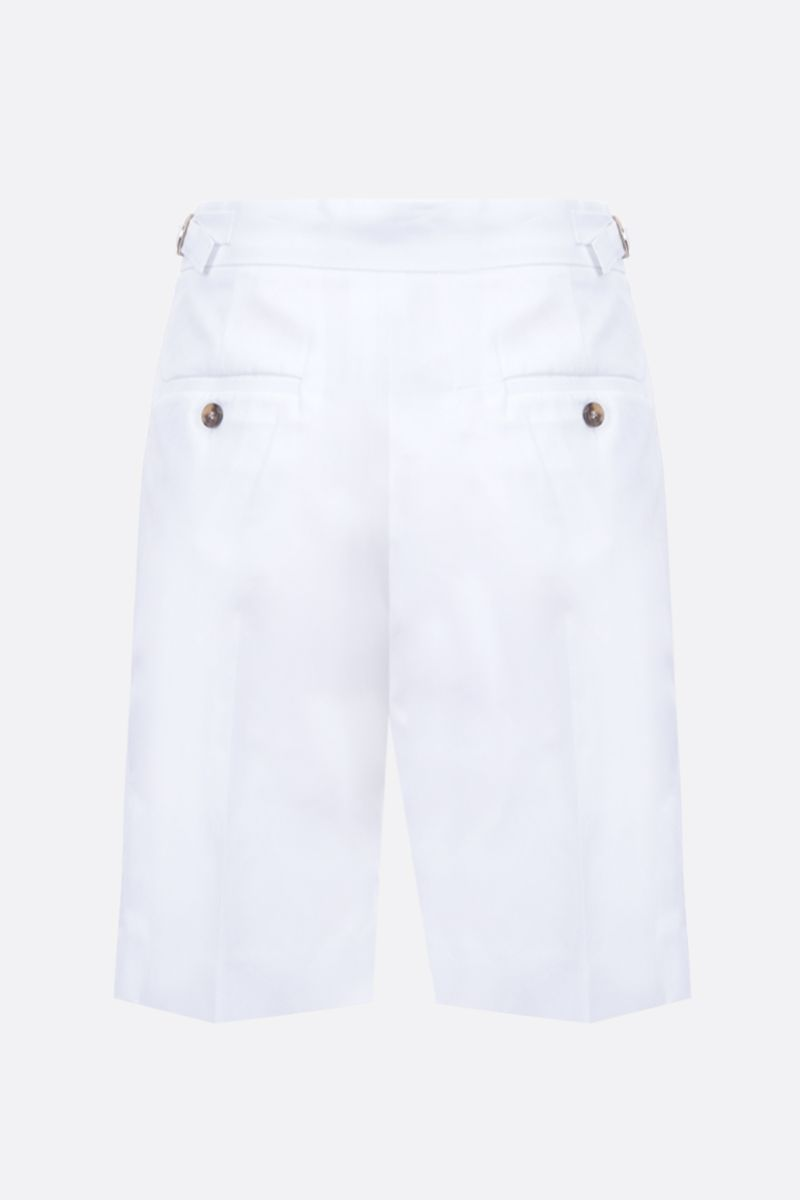 MAX MARA: Safari cotton darted shorts Color White_2