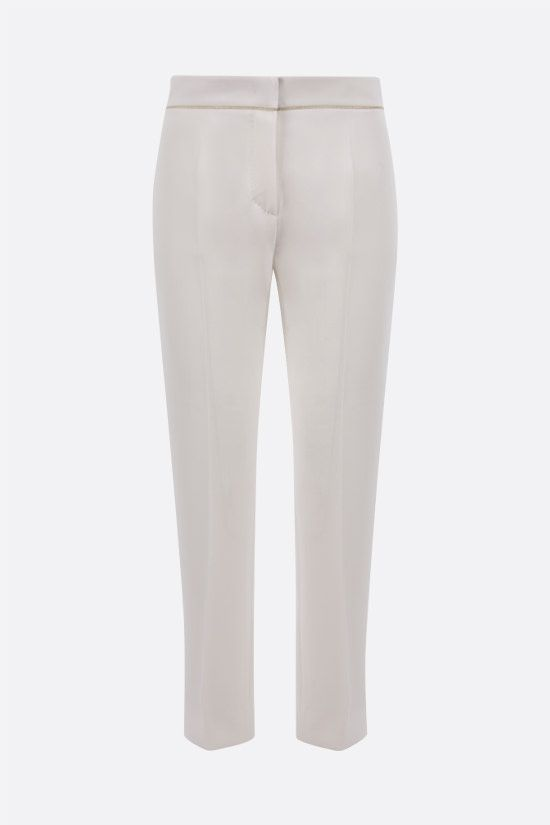 MAX MARA: Stella cady cropped pants Color White_1