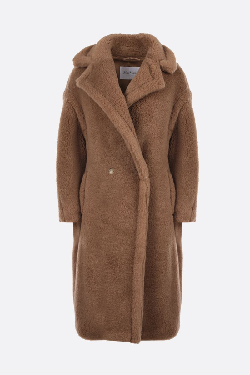 MAX MARA: 3Teddy double-breasted fur coat Color Neutral_1