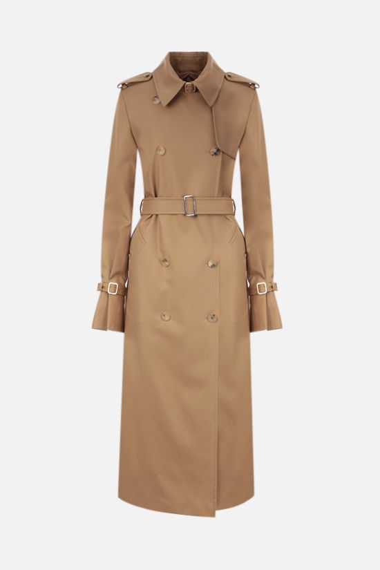 MAX MARA: Larix double-breasted gabardine trench coat Color Brown_1