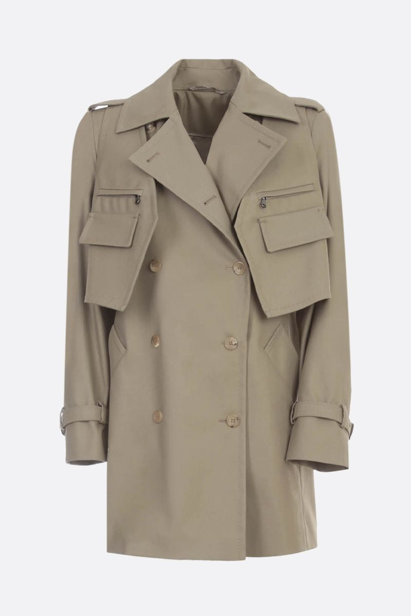 MAX MARA: Peonie twill double-breasted trench coat Color Animalier_1
