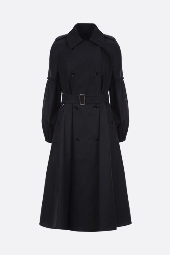 MAX MARA: Empoli double-breasted cotton trench coat Color Black_1