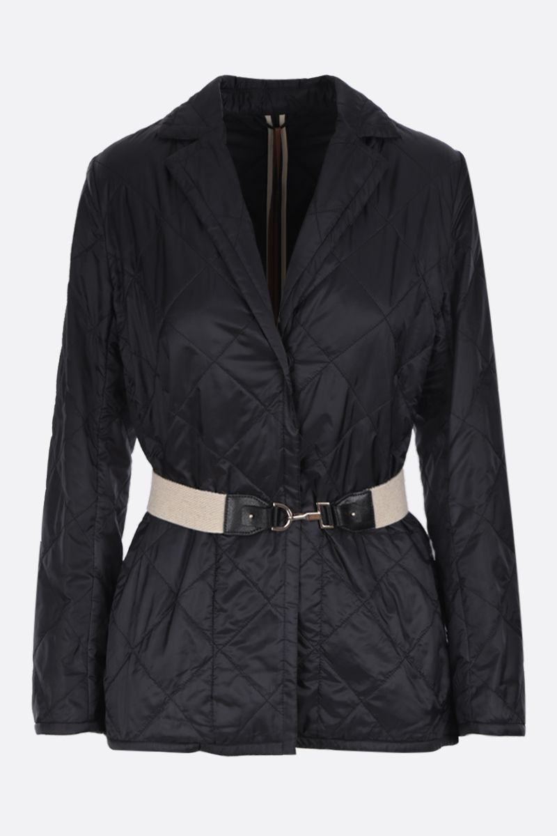 MAX MARA THE CUBE: Greenja single-breasted jacket in quilted nylon Color Black_1