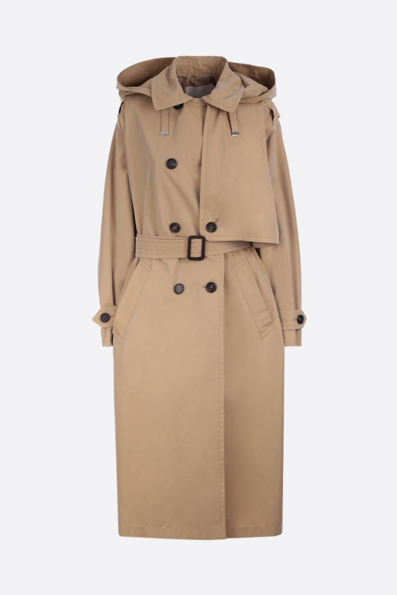 MAX MARA THE CUBE: oversized trench coat in cotton gabardine Color Neutral_1