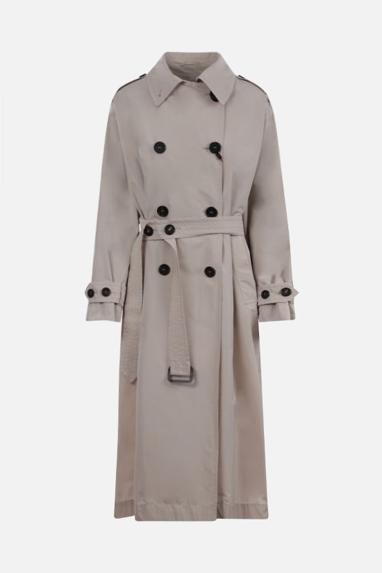MAX MARA THE CUBE: Cimper taffetà double-breasted trench coat Color Neutral_1