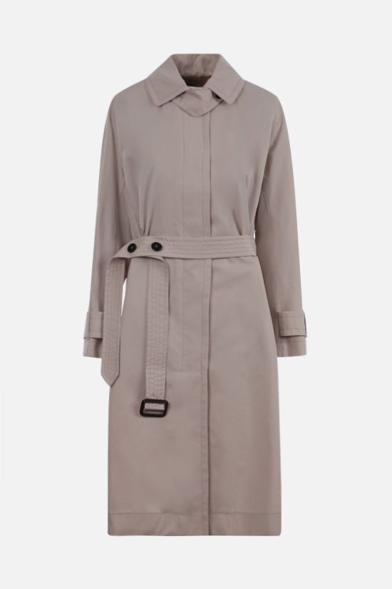 MAX MARA THE CUBE: trench monopetto Aimper in cotone Colore Neutro_1