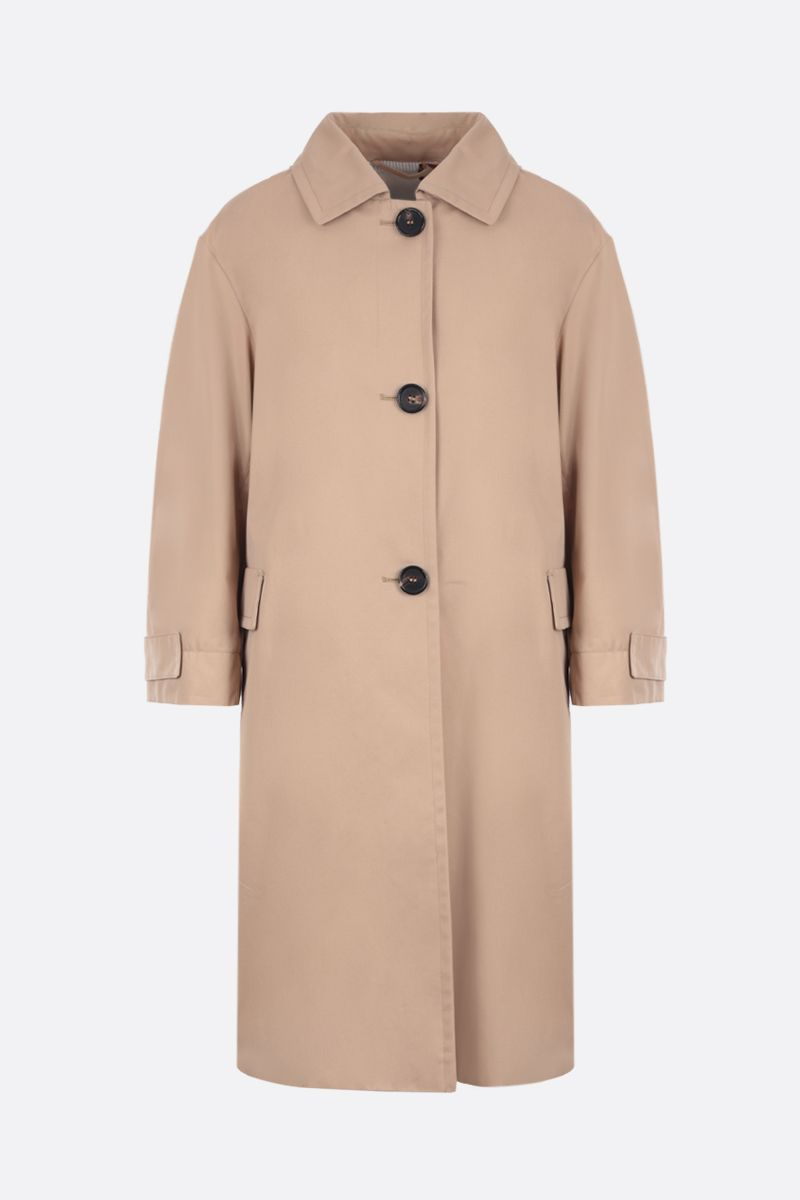 MAX MARA THE CUBE: Ftrench cotton overcoat Color Neutral_1