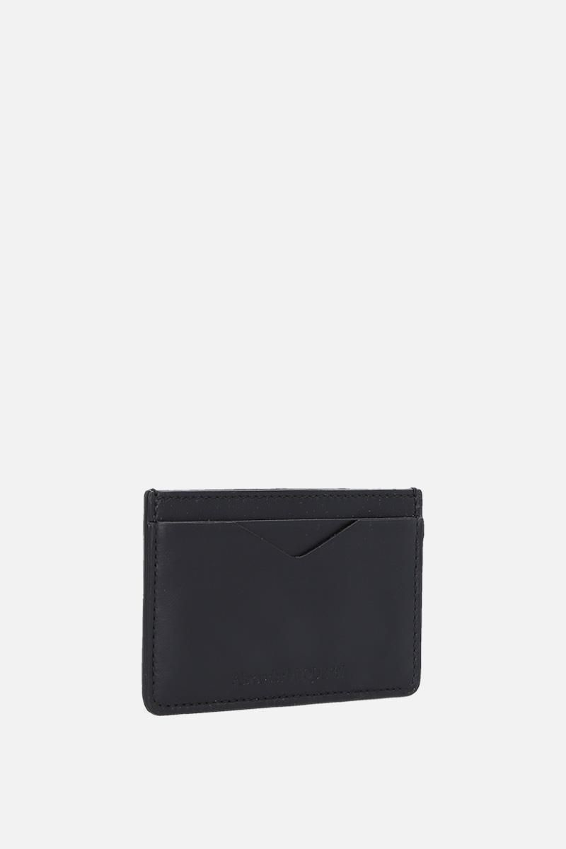 ALEXANDER McQUEEN: Rib Cage leather card case Color Black_2