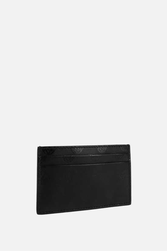 ALEXANDER McQUEEN: Skull print smooth leather card case Color Black_2