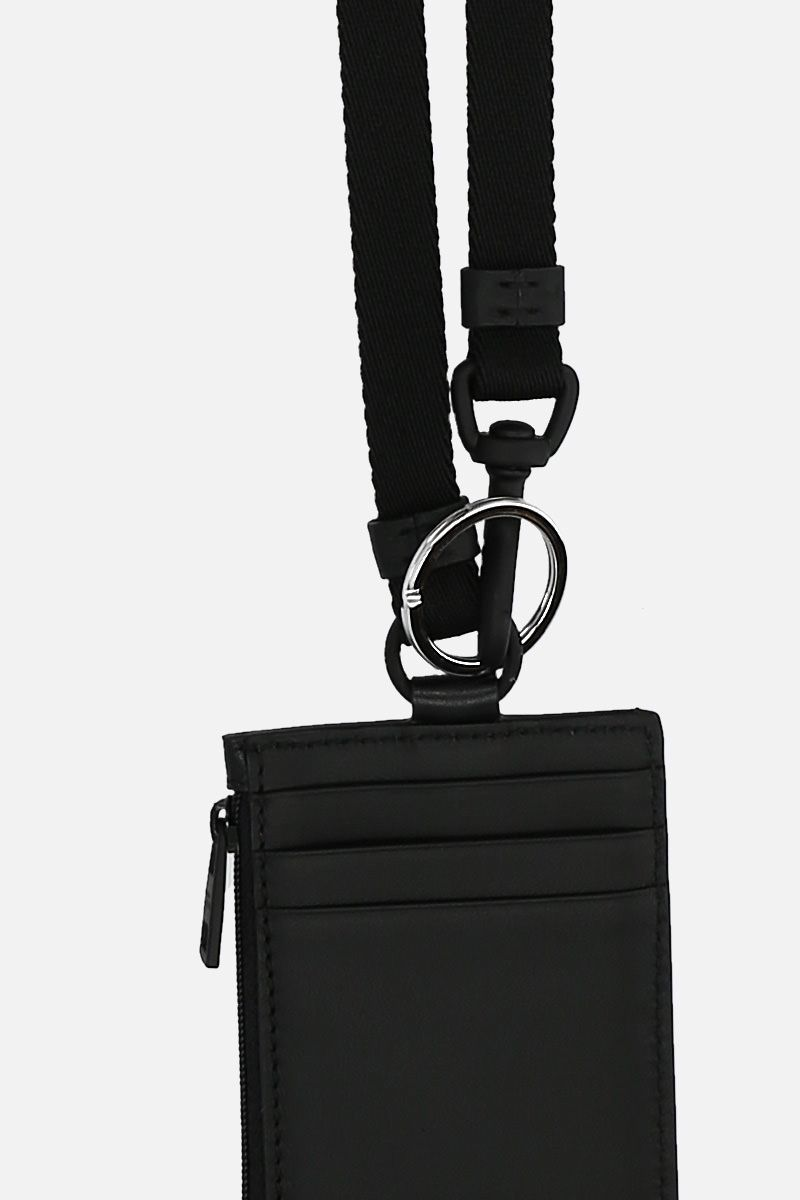 ALEXANDER McQUEEN: smooth leather key holder Color Black_2