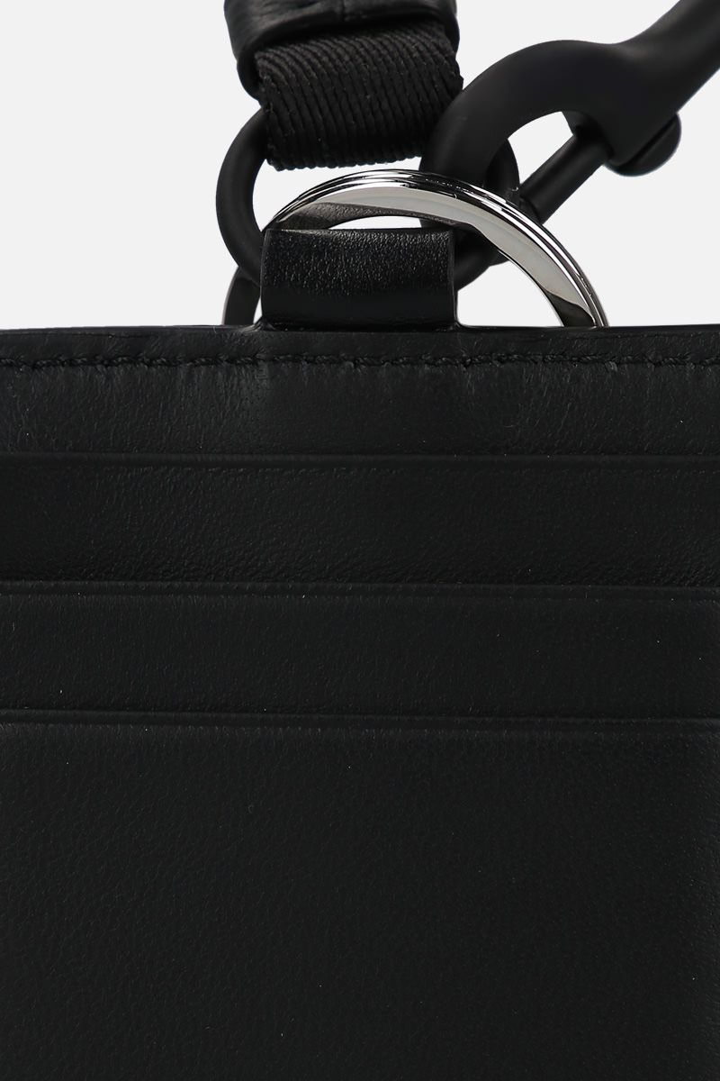 ALEXANDER McQUEEN: smooth leather key holder Color Black_3