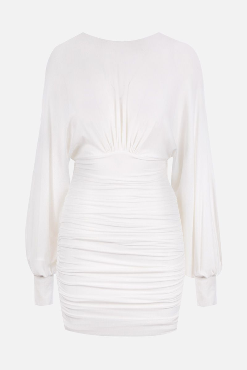 ALEXANDRE VAUTHIER: draped dress in stretch jersey Color White_1