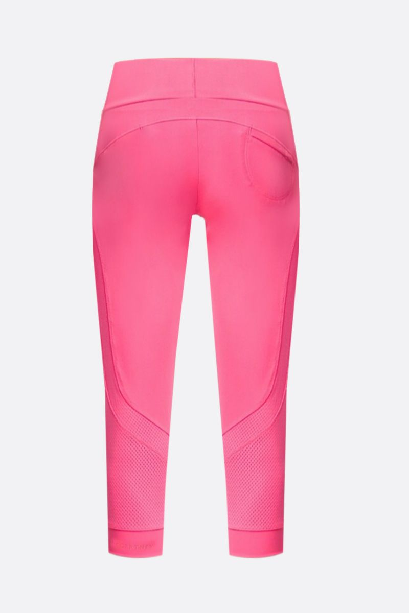 ADIDAS BY STELLA McCARTNEY: Essentials three-quarter tight in technical fabric Color Pink_2